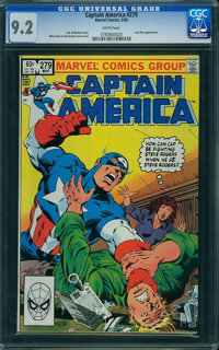 Captain America #279 (Marvel) CGC NM- 9.2 White pages