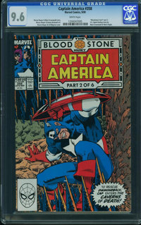 Captain America #358 - WESTPORT COLLECTION (Marvel) CGC NM+ 9.6 White pages