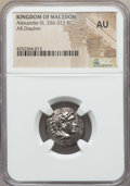 Ancients:Greek, Ancients: MACEDONIAN KINGDOM. Alexander III the Great (336-323 BC).AR drachm. NGC AU. ...