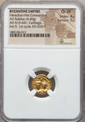 Ancients:Byzantine, Ancients: Heraclius & Heraclius Constantine (AD 613-641). AVsolidus (4.49 gm). NGC Choice VF 4/5 - 5/5....
