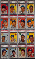 Baseball Cards:Lots, 1954 Topps Baseball PSA Graded Collection (16). ...