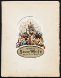 "Snow White and the Seven Dwarfs (RKO, 1937). Program (32 Pages, 10"" X 13""). Animation"