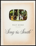 """Movie Posters:Animation, Song of the South (RKO, 1946). Program (20 Pages, 9.45"""" X 12.5""""). Animation.. ..."""