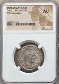 Ancients:Roman Provincial , Ancients: SYRIA. Antioch. Philip I (AD 244-249). BI tetradrachm.NGC AU....