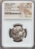 Ancients:Greek, Ancients: ATTICA. Athens. Ca. 454-404 BC. AR tetradrachm (17.19gm). NGC MS 5/5 - 4/5, scuff. ...