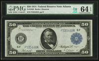 Fr. 1046 $50 1914 Federal Reserve Note PMG Choice Uncirculated 64 EPQ