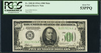 Fr. 2202-B $500 1934A Federal Reserve Note. PCGS About New 53PPQ