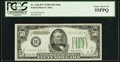 Small Size:Federal Reserve Notes, Fr. 2106-B* $50 1934D Mule Federal Reserve Note. PCGS Choice About New 55PPQ.. ...