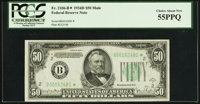 Fr. 2106-B* $50 1934D Mule Federal Reserve Note. PCGS Choice About New 55PPQ