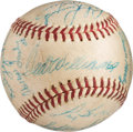 Baseball Collectibles:Balls, 1960 Boston Red Sox Team Signed Baseball (23 Signatures)....