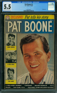 Pat Boone #1 (DC, 1959) CGC FN- 5.5 Cream to off-white pages