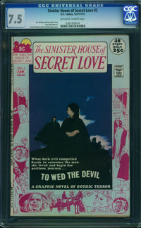 Sinister House of Secret Love #2 (DC, 1972) CGC VF- 7.5 Off-white to white pages
