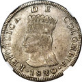Colombia, Colombia: Cundinamarca. Republic 8 Reales 1820-JF AU53 NGC,...