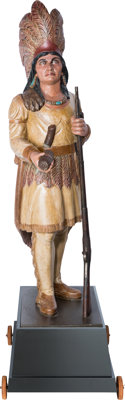 """A Large, Powerful """"Cigar Store Indian"""" Attributed to the Workshop of Samuel Robb"""