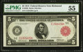 Fr. 836b $5 1914 Red Seal Federal Reserve Note PMG About Uncirculated 55