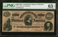 Confederate Notes:1864 Issues, CT65/491 $100 1864 Counterfeit.. ...