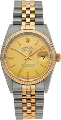 Timepieces:Wristwatch, Rolex Ref. 16013, Gent's Two Tone Oyster Perpetual Datejust, circa1979. ...