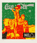 Prints:Contemporary, Wang Guangyi (b. 1957). Coca Cola (green), from The GreatCriticism series, 2006. Lithograph in colors on wove paper...