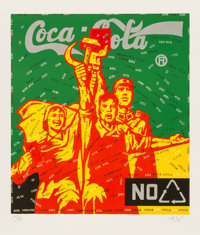Wang Guangyi (b. 1957) Coca Cola (green), from The Great Criticism series, 2006 Lithograp