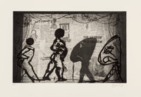 William Kentridge (b. 1955) The Nose, 2010 Drypoint etching with sugarlift and photogravure on paper