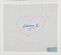 Post-War & Contemporary:Contemporary, Tracey Emin (b. 1963). Wanting You, 2015. Embroidered linenhandkerchief. 15-1/4 x 16-1/4 inches (38.7 x 41.3 cm). Ed. 5...