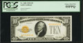 Small Size:Gold Certificates, Fr. 2400 $10 1928 Gold Certificate. PCGS Choice About New 55PPQ.. ...
