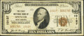 National Bank Notes:West Virginia, Spencer, WV - $10 1929 Ty. 2 The First NB Ch. # 10127. ...