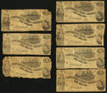 Confederate Notes:1862 Issues, T44 $1 1862 Seven Examples.. ... (Total: 7 notes)
