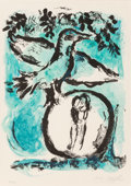 Prints:Contemporary, Marc Chagall (1887-1985). L'Oiseau vert (The Green Bird),1962. Lithograph in colors on wove paper. 30-1/2 x 22 inches (...