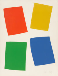 Ellsworth Kelly (1923-2015) Vivian Beaumont Theater, Lincoln Center, 1965 Lithograph in colors 34