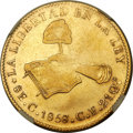 Mexico, Mexico: Republic gold 8 Escudos 1858 C-CE XF Details (SurfaceHairlines) NGC,...