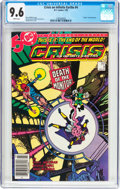 Modern Age (1980-Present):Superhero, Crisis on Infinite Earths #4 (DC, 1985) CGC NM+ 9.6 White pages....