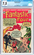 Silver Age (1956-1969):Superhero, Fantastic Four #6 (Marvel, 1962) CGC VF- 7.5 White pages....