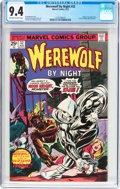 Bronze Age (1970-1979):Horror, Werewolf by Night #32 (Marvel, 1975) CGC NM 9.4 Off-white to whitepages....