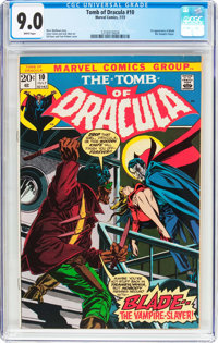 Tomb of Dracula #10 (Marvel, 1973) CGC VF/NM 9.0 White pages