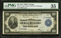 Large Size:Federal Reserve Bank Notes, Fr. 814 $10 1918 Federal Reserve Bank Note PMG Choice Very Fine 35.. ...