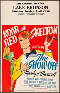 """The Show-Off (MGM, 1946). Window Card (14"""" X 22""""). Comedy"""