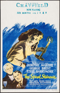 "The Spiral Staircase (RKO, 1945). Window Card (14"" X 22""). Thriller"