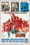 "Movie Posters:War, The Dirty Dozen (MGM, 1967). One Sheet (27"" X 41"") & Pressbook(16 Pages, 12.25"" X 17""). War.. ... (Total: 2 Items)"