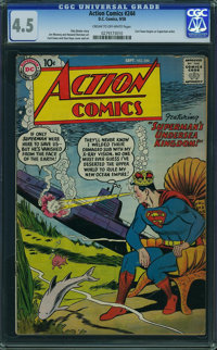 Action Comics #244 (DC, 1958) CGC VG+ 4.5 Cream to off-white pages