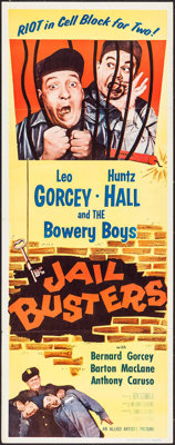 """Jail Busters (Allied Artists, 1955). Insert (14"""" X 36""""). Comedy"""