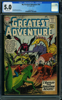 My Greatest Adventure #54 (DC, 1961) CGC VG/FN 5.0 Off-white pages
