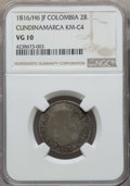 Colombia, Colombia: Cundinamarca 2 Reales 1816/H6 JF VG10 NGC,...