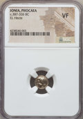 Ancients:Greek, Ancients: IONIA. Phocaea. Ca. 387-326 BC. EL sixth stater or hecte.NGC VF....