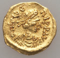 Ancients:Byzantine, Ancients: Maurice Tiberius  (582-602). AV tremissis (1.34 gm). Good VF....