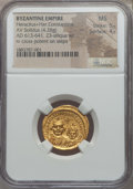 Ancients:Byzantine, Ancients: Heraclius & Heraclius Constantine (613-641). AVlight-weight solidus (4.28 gm). NGC MS 5/5 - 4/5....