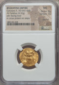 Ancients:Byzantine, Ancients: Constans II (641-668). AV solidus (4.32 gm). NGC MS 4/5 -3/5, clipped....