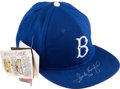 Baseball Collectibles:Hats, 1990's Sandy Koufax Signed Brooklyn Dodgers Cap. ...