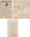 Miscellaneous:Ephemera, Charles Guiteau: Three Exceptional Paper Items.... (Total: 3 Items)