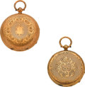 Timepieces:Pocket (pre 1900) , Two Swiss 18k Gold Pocket Watches, circa 1850's. ... (Total: 2Items)